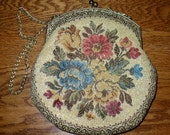 Handbag - Vintage Ladies Tapestry Dress Purse
