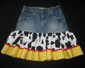 Little Cowgirl Jeans Skirt