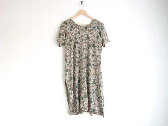 sale -  vintage floral print dress with sweetheart neck / peacock green boho dress