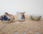 Tiny Doll Country House Basin Pitcher and Towel Dish