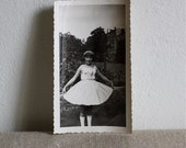 Vintage photo ... little girl in new dress