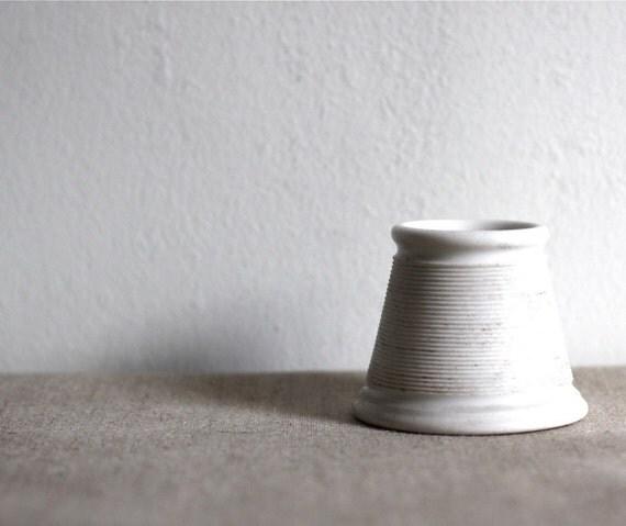 Reserved for Mitch Lew ...Vintage French Ceramic Pyrogen Match Striker / Holder Solid White