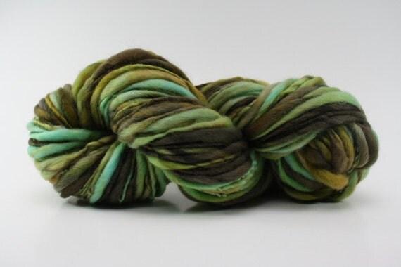 Thick and Thin Yarn Slub tts Handspun Merino Hand dyed XLR gctm B01a