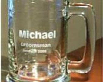 Personalized 15 oz. Glass  Beer Mug