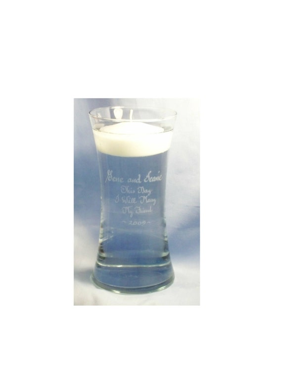 "Personalized ""Curved Memorial Floating Candle"""