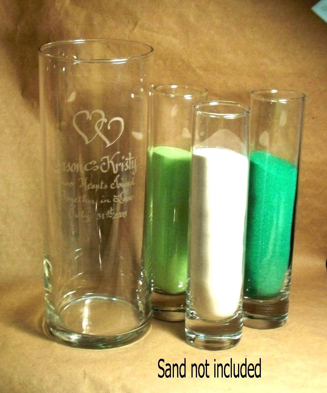 Personalized Unity Sand Ceremony Cylinder With 3 Side Pouring