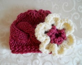 Baby Knit Hat - Baby Girl Knit Hat - Knit Newborn Hat - Baby Winter Hat