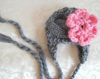 Baby Girl Hat Infant Hat Baby Girl Photo Prop Newborn Hat Baby Hat Earflap