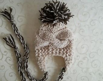Knit Baby Boy Hat, Baby Boy Knit Hat Newborn Boy Hat, Toddler Boy Hat, Infant Boy Hat, Baby Boy Hat Photo Props