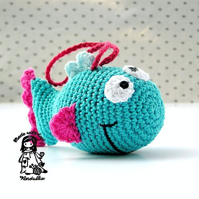Free Crochet Pattern For Small Fish : Just only a Fish crochet pattern DIY