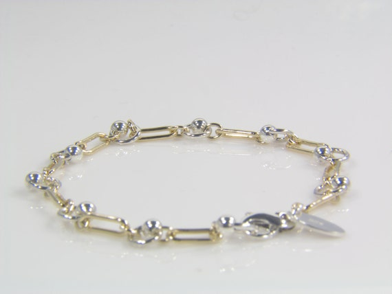 Sterling Silver Ball and Link Bracelet