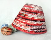 Coiled Fabric Basket - Valentine Red and Black