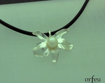 Pearl Orchid Pendant