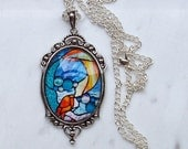 Mermaid.  Necklace with Pendant. 30x40 mm