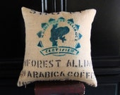 18inch Designer Upcycled Burlap PillowFrom CasaBeanDesign