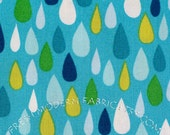 Half Yard Raindrops in Blue, Green and Yellow, Spring Street, Carolyn Gavin for P&B Textiles