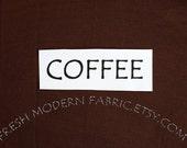 One Yard Coffee Kona Cotton Solid Fabric from Robert Kaufman, K001-1083