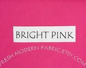 One Yard Bright Pink Kona Cotton Solid Fabric from Robert Kaufman, K001-1049