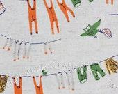 LAST PIECE Fat Quarter Laundry in Green, Far, Far Away III by Heather Ross for Kokka Fabrics