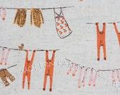 LAST PIECE Fat Quarter Laundry in Pink, Far, Far Away III by Heather Ross for Kokka Fabrics