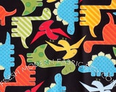 End of Bolt 20.5 Inches Dinosaurs in Bright, Urban Zoologie, by Ann Kelle for Robert Kaufman, 100% Cotton Fabric