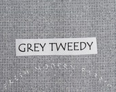 Half Yard Tweedy Fabric in Grey, P&B Textiles, 100% Cotton Fabric