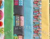 LAST AVAILABLE Half Yard Bundle of Sweet on NYC, 7 Pieces, by The Pixie Pops for Timeless Treasures, 100% Cotton Fabric