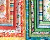 Fat Quarter Bundle Spring Street, 15 pieces plus Panel, Carolyn Gavin for P&B Textiles