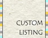 Custom Listing for Toni