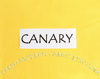One Yard Canary Kona Cotton Solid Fabric from Robert Kaufman, K001-26