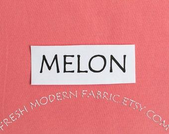 One Yard Melon Kona Cotton Solid Fabric from Robert Kaufman, K001-1228