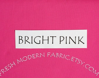 One Yard Bright Pink Kona Cotton Solid Fabric from Robert Kaufman, K001-1049