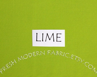 One Yard Lime Kona Cotton Solid Fabric from Robert Kaufman