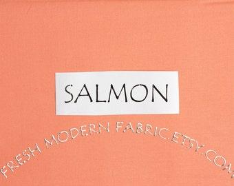One Yard Salmon Kona Cotton Solid Fabric from Robert Kaufman, K001-1483