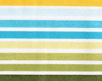 Half Yard of Remix Stripe in Bermuda, by Ann Kelle for Robert Kaufman Fabrics, 100% Cotton Fabric