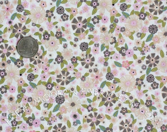 Half Yard Cookery Floral in Grey, ABC Cookery, by Alexander Henry, 100% Cotton Fabric