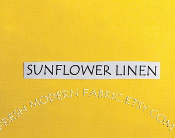 Half Yard Quilter's Linen in Sunflower, Robert Kaufman, 100% Cotton Fabric