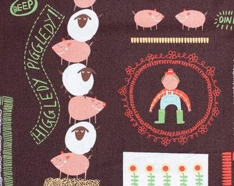 LAST PIECE Half Yard Summer Farming, Michael Miller Fabrics, 100% Cotton Fabric