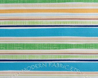 LAST PIECE Half Yard Spring Street Stripe in Blue, Carolyn Gavin for P&B Textiles