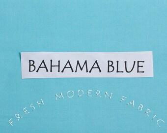 One Yard Bahama Blue Kona Cotton Solid Fabric from Robert Kaufman, K001-1011