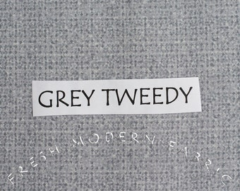 LAST PIECE Half Yard Tweedy Fabric in Grey, P&B Textiles, 100% Cotton Fabric