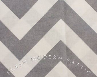 Half Yard of Half Moon Modern Zig Zag in Steel, Moda Fabrics, 100% Cotton Fabric