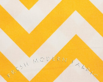 Half Yard of Half Moon Modern Zig Zag in Sunshine, Moda Fabrics, 100% Cotton Fabric