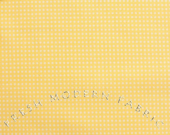 Half Yard of Sweet on NYC Yellow Pin Dots, by The Pixie Pops for Timeless Treasures, 100% Cotton Fabric