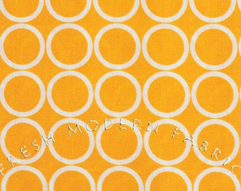 Half Yard Metro Living Circles in Marigold, Robert Kaufman, 100% Cotton Fabric