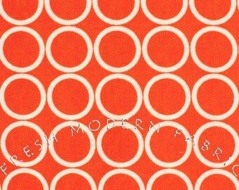 Half Yard Metro Living Circles in Orange, Robert Kaufman, 100% Cotton Fabric