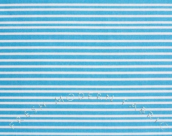 Half Yard Hello Pilgrim Stripe in Blue, Lizzy House for Andover Fabrics, 100% Cotton Fabric
