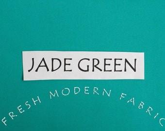 One Yard Jade Green Kona Cotton Solid Fabric from Robert Kaufman, K001-1183
