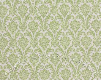 LAST PIECE Fat Quarter Blitzen Damask in Pear, BasicGrey for Moda Fabrics, 100% Cotton Fabric, 30298 12