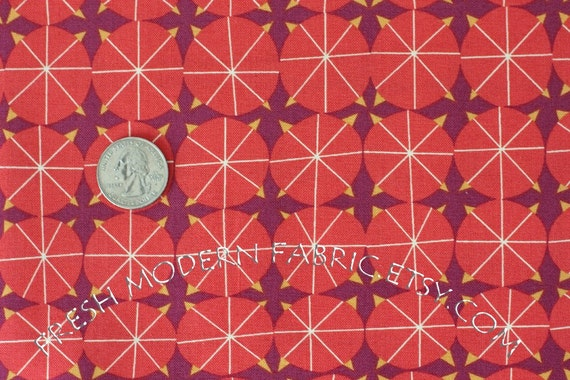 LAST PIECE Fat Quarter Castle Armory in Cardinal Red, Castle Peeps, Lizzy House for Andover Fabrics, 100% Cotton Fabric
